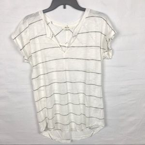 MADEWELL Stripped Short Sleeve Tee XS